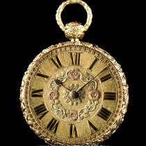 Litherland Davis 18k Yellow Gold Decorated Case Open Face...