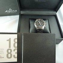 Alpina Startimer Pilot Automatic gebraucht 44mm Schwarz Chronograph Datum Stahl
