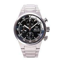 IWC Aquatimer Iw371928 Men Automatic Watch Black Dial Chronogr...