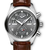 IWC Pilot Spitfire Perpetual Calendar Digital Date-Month Steel 46mm Grey Arabic numerals United States of America, New York, New York