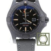 Breitling Avenger Blackbird Titanium 48mm Zwart Geen cijfers