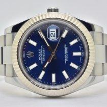 Rolex Datejust II Stahl 41mm Blau Keine Ziffern Deutschland, Iffezheim