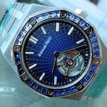 Audemars Piguet Royal Oak Tourbillon Platin 41mm Blau
