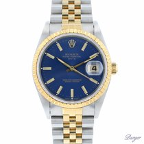 Rolex Oyster Perpetual Date Goud/Staal 34mm Blauw Nederland, Maastricht