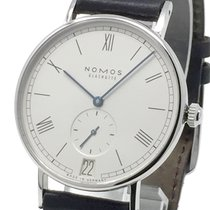 NOMOS Ludwig 38 pre-owned 4038mm Date Leather
