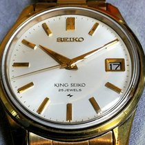 Seiko King Steel 35mm Mother of pearl No numerals