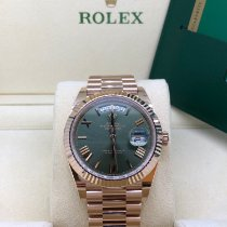 Rolex Day-Date 40 Rose gold 40mm Green United Kingdom, Newcastle Upon Tyne
