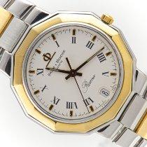 Baume & Mercier Riviera Acero y oro 38mm Blanco