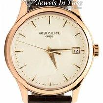 Patek Philippe Rose gold Automatic Champagne 39mm pre-owned Calatrava