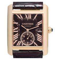 Cartier Tank MC pre-owned 34mm Brown Date Crocodile skin