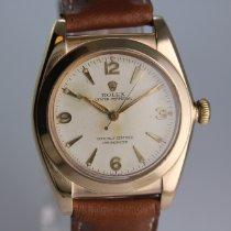 Rolex Bubble Back Gelbgold 32mm Silber Arabisch Deutschland, Nürnberg