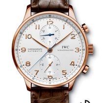 IWC Portuguese Chronograph Roodgoud 40.9mm Wit Arabisch