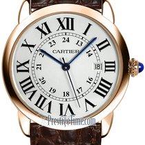 Cartier new Quartz Blue Steel Hands 36mm Rose gold
