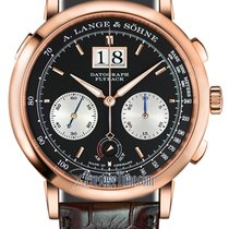 A. Lange & Söhne Rose gold Manual winding Black 41mm new Datograph