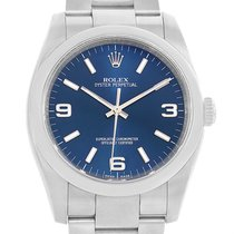 Rolex No Date Mens Blue Dial Stainless Steel Watch 116000 Box...