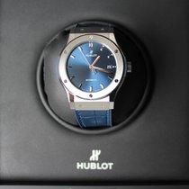Hublot Classic Fusion Titanium 42 Blau/ Blau