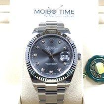 Rolex Datejust II Dark Rhodium Diamond Dial 41mm NEW