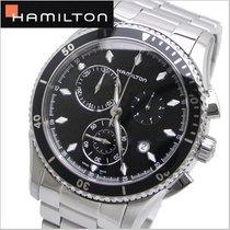 Hamilton JAZZMASTER SEAVIEW CHRONO QUARZO Black-Steel Bracelet...