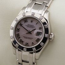 Rolex Lady-Datejust Pearlmaster White gold 29mm Roman numerals