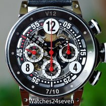 B.R.M V12 Automatic Chronograph Skeleton Black & Red 44mm...