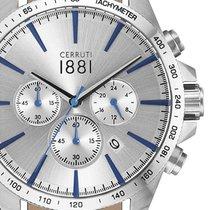 Cerruti Chronograph 44mm Quartz new Silver