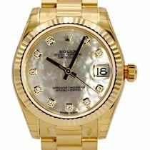 Rolex Datejust 31 White MOP Dial Yellow Gold President...