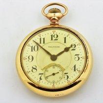 Waltham Vanguard 14k Gold Filled Pocket Watch 23 Jewels