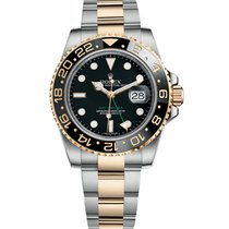 Rolex GMT-Master II Gold/Steel 40mm Black No numerals United States of America, New York, NEW YORK