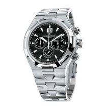 Vacheron Constantin Overseas Chronograph Steel 42mm Black No numerals