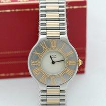 까르띠에 35mm 쿼츠 중고시계 21 Must de Cartier 흰색