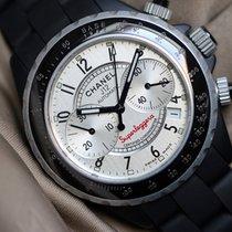 Chanel J12 occasion 41mm Gris Chronographe Caoutchouc