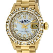 Rolex Yellow gold Automatic Mother of pearl 26mm pre-owned Datejust
