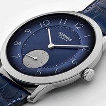 Hermès Slim d'Hermès Steel 39.5mm Blue Arabic numerals United States of America, New Jersey, Jersey City