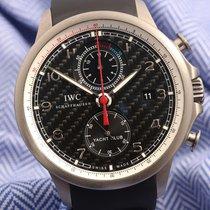 IWC Portuguese Yacht Club Chronograph Титан Чёрный Aрабские