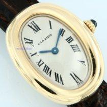 Cartier Baignoire Gelbgold 30mm Weiß Römisch