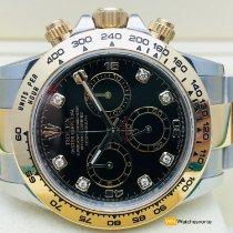 Rolex Daytona Золото/Cталь 40mm Чёрный Без цифр