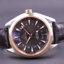 Omega Seamaster Aqua Terra Gold/Steel 43mm Brown