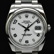 Rolex Oyster Perpetual Date Acero 34mm Blanco Sin cifras España, Barcelona