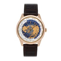 Jaeger-LeCoultre Geophysic Universal Time pre-owned 41.5mm GMT Crocodile skin