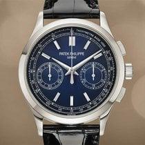 Patek Philippe Chronograph Platinum 39.4mm Blue No numerals United States of America, New York, New York