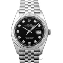 Rolex Lady-Datejust Белое золото 36mm Чёрный