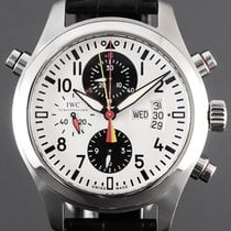 IWC Pilot Double Chronograph Steel 44mm White Arabic numerals