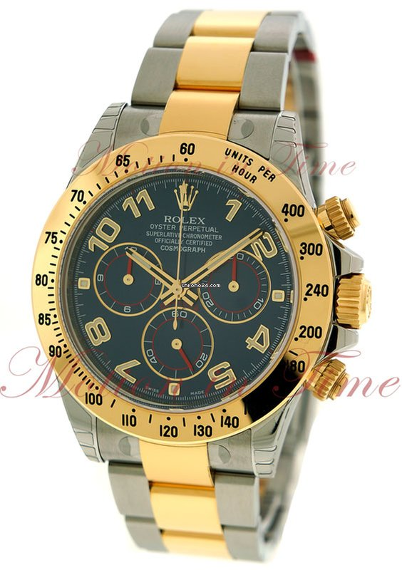 Rolex Cosmograph Daytona Blue Dial Stainless Steel Yellow For