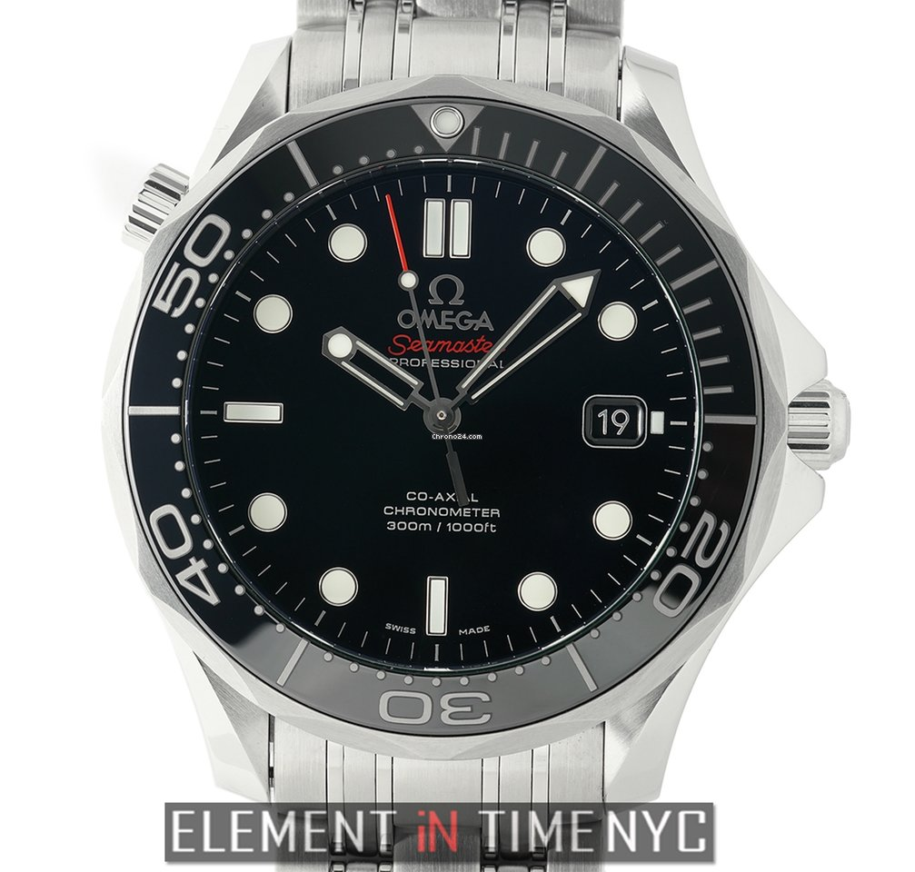 Omega Seamaster Diver 300m Co Axial 41mm Black Dial Automatic For