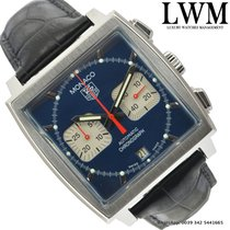 TAG Heuer Monaco CW2113 chronograph Steve McQueen blue dial...