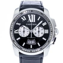 Cartier Calibre de Cartier Chronograph Acero 42mm Negro