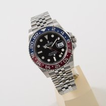 Rolex GMT Master II Pepsi LC 100 Stahl unworn box and papers
