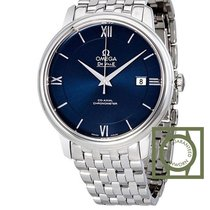 Omega De Ville Prestige Co-Axial 39.5 mm Blue Dial Steel Bracelet