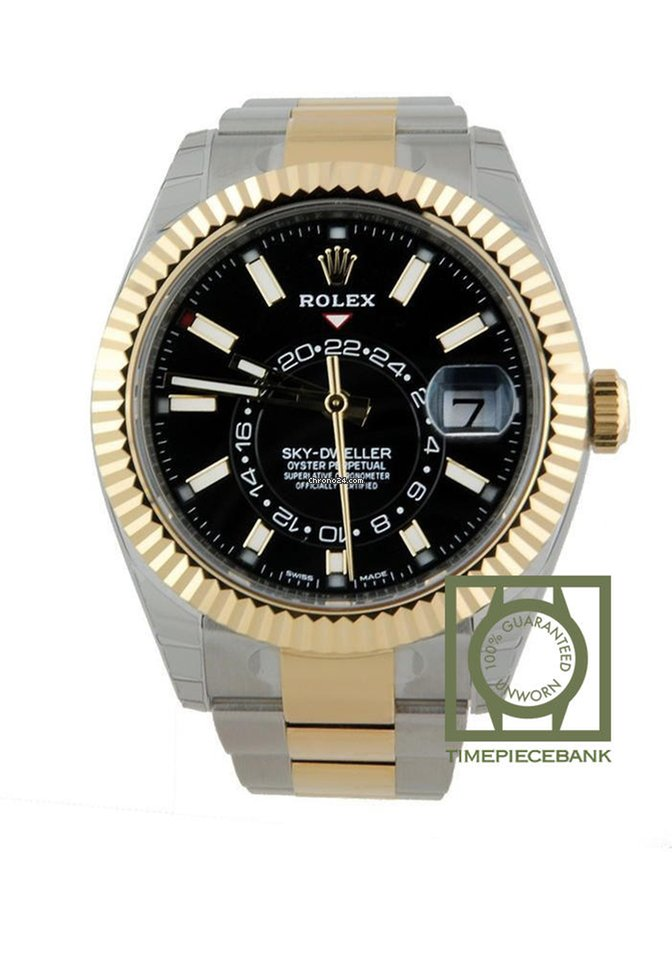 premium selection d4706 adca8 Rolex Sky-dweller Steel/Yellow Gold Black Dial 326933
