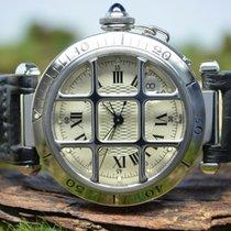 Cartier Pasha (Submodel) gebraucht 38mm Stahl